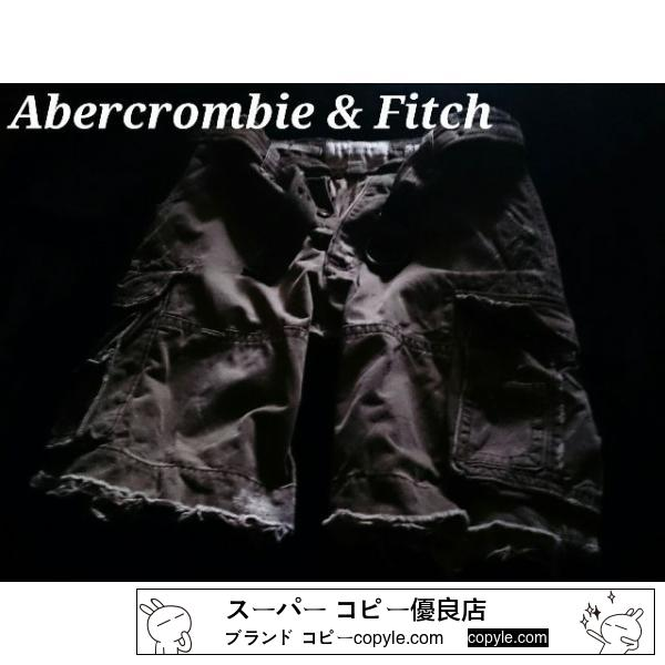 【Abercrombie&Fitch 】Vintage Destroy ベルト付カーゴショーツ 34/Olive-2