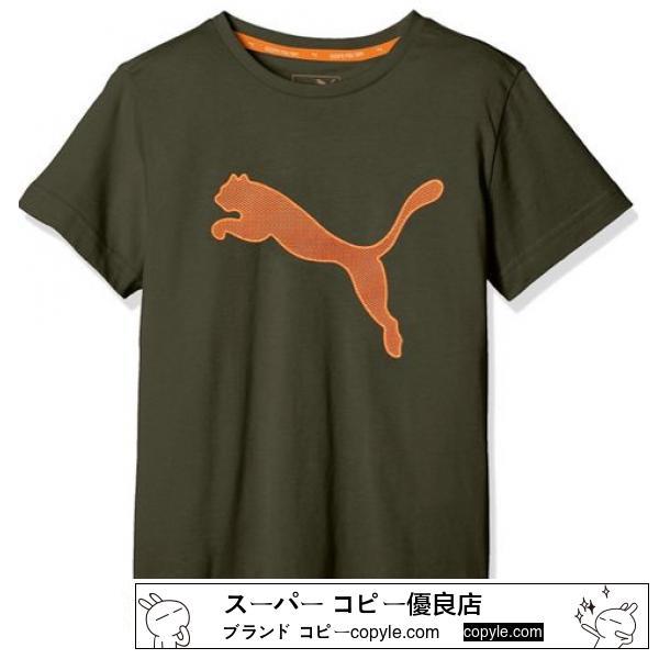 新品PUMA スーパー コピー☆150 Tシャツ カーキ系 プーマ スーパー コピー-2