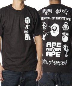 †完売御礼†APE×STUSSY スーパーコピー†コラボレーションTシャツ-3