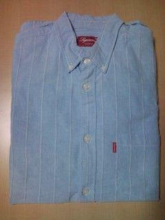supreme2009s/s stripe oxford shirt オックスフォード ブルー-3