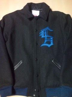 10a/w varsity jacket ブラック M-3