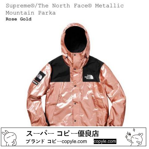 (S) SUPREME コピー THE NORTH FACE スーパー コピー  Metallic Mountain Parka-3