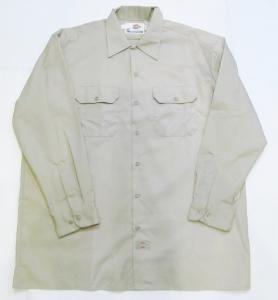 AL17)Dickies コピーワークシャツ ベージュXL/2XL-3