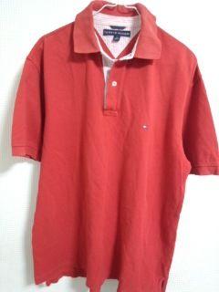 トミー 赤ポロシャツ-3