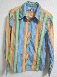 トミー ストライプシャツ 12 レインボー系-3