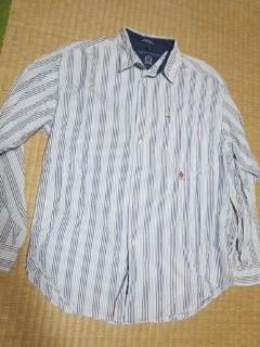 トミー ストライプシャツ L位-3