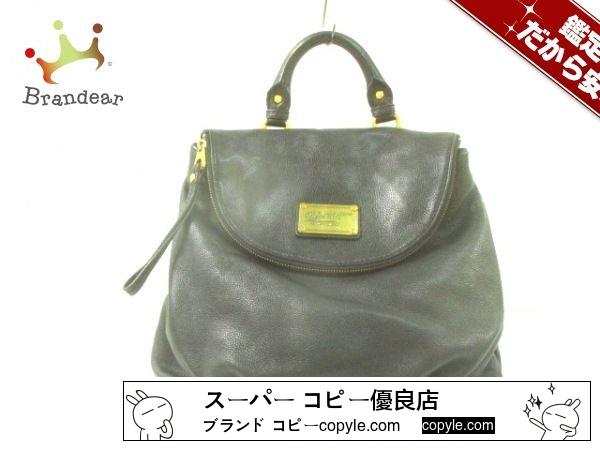 MARC BY MARC JACOBS スーパーコピー(マークバイマークジェイコブス スーパー コピー) リュックサック - 黒 レザー-3