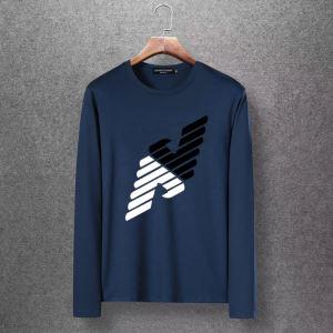 秋冬にお世話になる定番 先取り 2019/2020秋冬ファッション アルマーニ ARMANI 長袖Tシャツ 4色可選-3