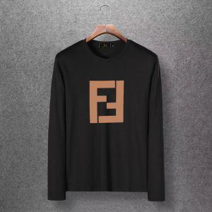 4色可選 長袖Tシャツ 絶対おさえるべきカラーと最新 2020秋冬流行ファション  フェンディ FENDI-3
