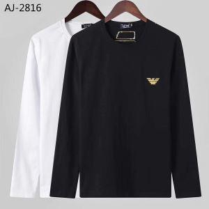 アルマーニ ARMANI 長袖Tシャツ 2色可選 今年らしい新しい人気色 2019トレンド秋冬おすすめ安い-3