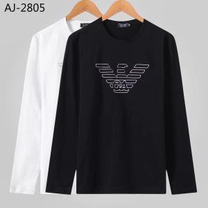 【2019秋冬】今きてる最先端ブランド 今年の流行りファション アルマーニ ARMANI 長袖Tシャツ 2色可選-3