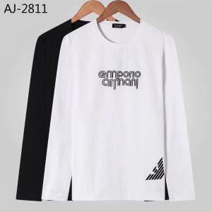 アルマーニ ARMANI 長袖Tシャツ 2色可選 今年らしい新しい人気色 2019秋のファッショントレンドはこれ-3