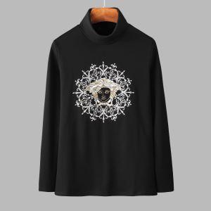 ヴェルサーチ VERSACE 長袖Tシャツ 2色可選 今年注目すべき秋冬ファッション 気になる2019年秋のファッション-3