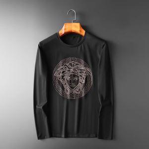 長袖Tシャツ 2色可選 ヴェルサーチ VERSACE 秋こそ楽しめるアイテム 2019トレンド秋冬おすすめ安い-3