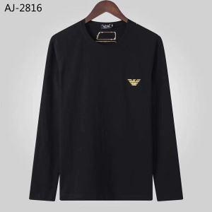 2色可選 アルマーニ ARMANI 長袖Tシャツ 2020秋冬定番コーデ 洗練された印象を最大限に引き出す-3