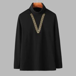 長袖Tシャツ 2色可選 ヴェルサーチ VERSACE 2020年秋に買うべき プチプラに見えない最旬スタイル-3