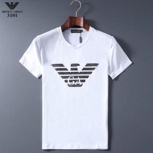 多色可選 価格も嬉しいアイテム 半袖Tシャツ 手頃価格でカブり知らず アルマーニ ARMANI-3