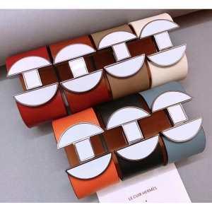 多色可選 非常にシンプルなデザインな ブレスレット 普段見ないデザインばかり エルメス HERMES-3