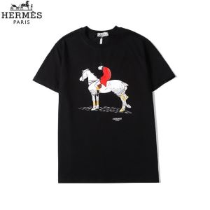 3色可選 普段使いにも最適なアイテム エルメス HERMES ストリート界隈でも人気 半袖Tシャツ-3