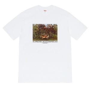 日々のスタイルを軽やかにアップ 半袖Tシャツ 2色可選 春夏大トレンドデザイン シュプリーム SUPREME-3