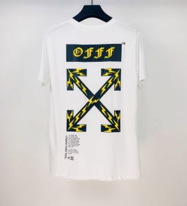 Off-White エレガントな雰囲気 オフホワイト2色可選  半袖Tシャツ おしゃれな人が持っている-3