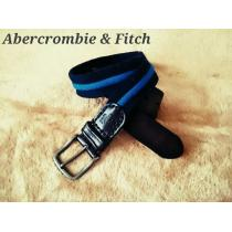 【Abercrombie & Fitch スーパーコピー】Vintage レザー×コットン コンビベルト 32/Blue
