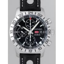 ショパールスーパーコピー Chopard ミッレミリア GMT クロノグラフ 16/8992-3001 SS/ブラック革 ブラック-1