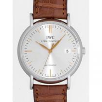 IWC インターナショナルウォッチカンパニー ポートフィノ オートマティック zIW356303 ブラウン革 シルバー-1
