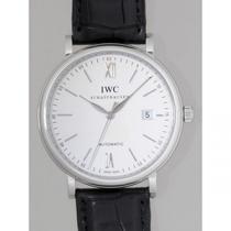IWC インターナショナルウォッチカンパニー ポートフィノ オートマティック zIW356501 ブラック革 シルバー-1