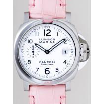 パネライスーパーコピー  ルミノールマリーナ PAM00049 40mm ピンク革 ホワイト-1