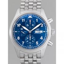 IWC インターナショナルウォッチカンパニー パイロットウォッチ zIW371712 クロノ・オートマティック SS ローレウス 世界限定2500本 ブレスセッティング ブルー-1