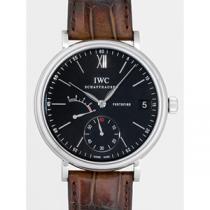 IWC インターナショナルウォッチカンパニー ポートフィノ ハンドワインド IW510102 8DAYS ブラウン革 ブラック-1