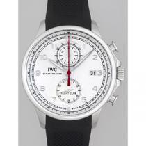 IWC インターナショナルウォッチカンパニー ポルトギーゼ zIW390206 ヨットクラブ クロノグラフ ラバー 旧型 シルバー-1