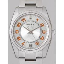 ロレックススーパーコピー ROLEX エアーキング 114234 シルバーコンセントリック オレンジアラビア-1