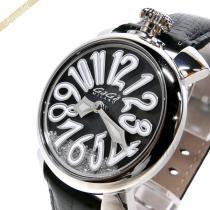 Gaga Milano スーパーコピー ガガミラノ スーパー コピー 腕時計 マヌアーレ MANUALE FLOATING 40mm ブラック gaga XvH3D61i-1