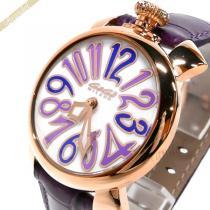 Gaga Milano スーパーコピー ガガミラノ  腕時計 マヌアーレ MANUALE 40mm ホワイト×パープル gaga q9TeyAcl-1