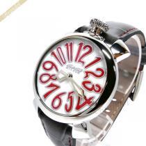 Gaga Milano スーパーコピー ガガミラノ スーパー コピー 腕時計 マヌアーレ MANUALE 40mm ホワイト×レッド×グレー gaga OmfxY0ad-1