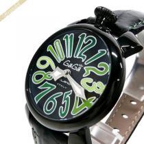 Gaga Milano コピー ガガミラノ スーパー コピー 腕時計 マヌアーレ MANUALE 40mm ブラック×グリーン gaga d9AFYzbA-1