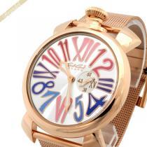 Gaga Milano スーパー コピー ガガミラノ コピー 腕時計 マヌアーレスリム MANUALE SLIM 46mm ゴールド gaga BE7PFzot-1