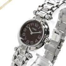 FENDI コピー フェンディ スーパーコピー レディース腕時計 ZUCCA ズッカ 24mm ブラウン×シルバー FENDI SLg4H47d-1