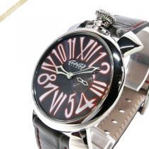 Gaga Milano スーパーコピー ガガミラノ コピー 腕時計 マヌアーレスリム MANUALE SLIM 46mm グレー×レッド gaga rV1QBQ2U-1
