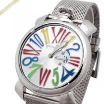 Gaga Milano スーパー コピー ガガミラノ コピー 腕時計 マヌアーレスリム MANUALE SLIM 46mm シルバー gaga vHmjBM58-1