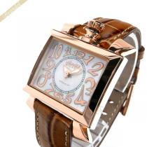 Gaga Milano コピー ガガミラノ  腕時計 ナポレオーネ 18K PVC NAPOLEONE スクエア ホワイト×ブラウン gaga 37PEIxZI-1