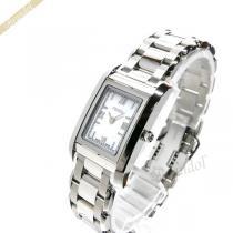 FENDI スーパー コピー フェンディ スーパーコピー レディース腕時計 ループ レクタングル ホワイト×シルバー FENDI Or50EQPd-1