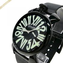 Gaga Milano コピー ガガミラノ スーパー コピー 腕時計 マヌアーレスリム MANUALE SLIM 46mm ブラック×グリーン gaga cybhB86X-1