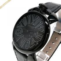 Gaga Milano スーパーコピー ガガミラノ スーパーコピー 腕時計 マヌアーレスリム MANUALE SLIM 46mm オールブラック gaga q2zgKcwW-1