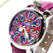 Gaga Milano スーパーコピー ガガミラノ  腕時計 マヌアーレ モザイク柄 MANUALE 40mm ピンク gaga 6hytCPvu-1