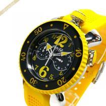 Gaga Milano スーパー コピー ガガミラノ  メンズ腕時計 クロノスポーツ CHRONO SPORTS 46mm ブラック×イエロー gaga 7b8ZI2No-1