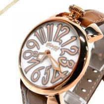 Gaga Milano  ガガミラノ スーパーコピー 腕時計 マヌアーレ MANUALE 40mm ホワイト×ブラウン gaga b5yUZZHg-1