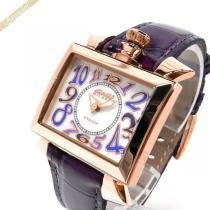 Gaga Milano スーパー コピー ガガミラノ  腕時計 ナポレオーネ NAPOLEONE スクエア パープル gaga zBjBC18o-1